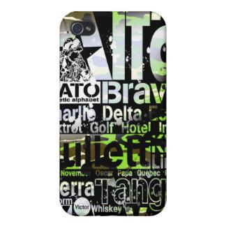 Iphone case för coad för Phonetic alfabet för NATO iPhone 4 Hud