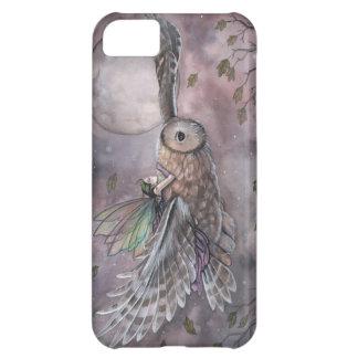 Iphone case för fe- och ugglafantasikonst iPhone 5C fodral