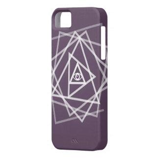 Iphone case för konst för Illuminati ögatriangel iPhone 5 Case-Mate Fodral