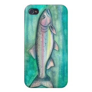 Iphone case för konst för regnbågeforellvattenfärg iPhone 4 fodral
