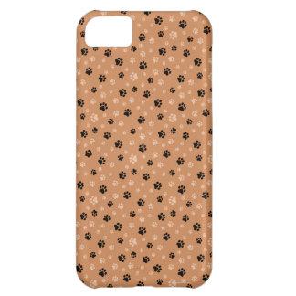 Iphone case för svart- och brunthundtass avtryck iPhone 5C fodral