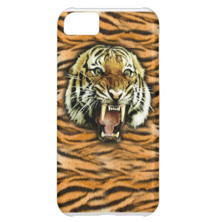 Iphone case för tigerhuvudstruktur iPhone 5C fodral