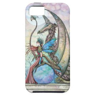Iphone case för tuff för fe- och drakefantasikonst iPhone 5 skal