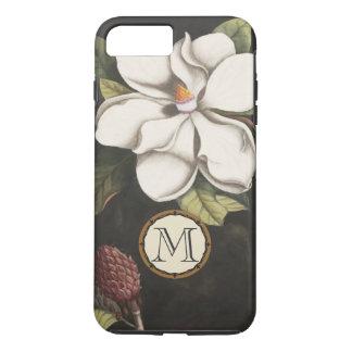 Iphone för blommönster för MonogramvintageMagnolia