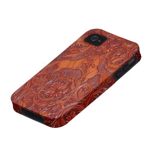 iPhone för mustangläderlook