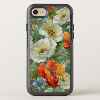 iPhone för orange vallmo för vit blom- 7/8