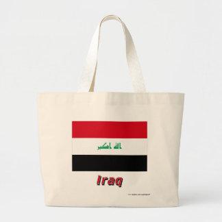 Irak flagga med namn tote bags