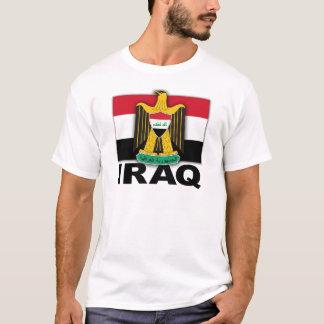Irak vapensköldflagga t-shirt