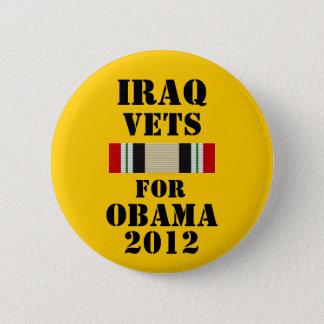 Irak Vets för Obama 2012 Standard Knapp Rund 5.7 Cm