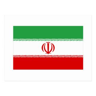 Iran flagga vykort