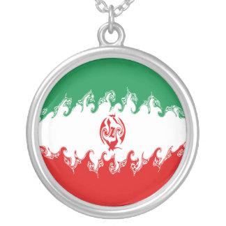 Iran Gnarly flagga Halsband Med Rund Hängsmycke