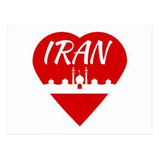 Iran hjärta vykort