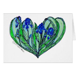 """Iris """"den art nouveau"""" bröllopinbjudan eller hälsningskort"""