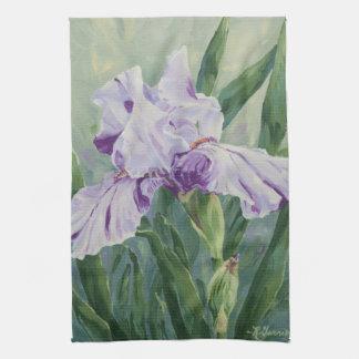 Iris för 0440 lilor kökshandduk