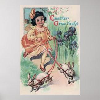 Iris för Victorianflickapåskhare Poster