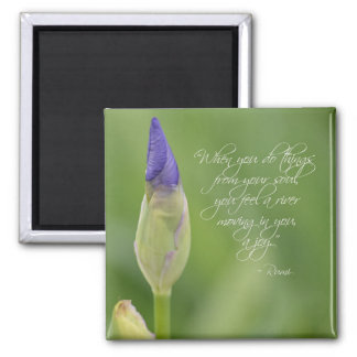 Iris med citationstecken magnet