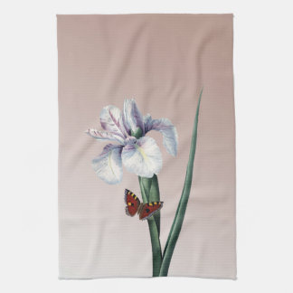Iris med fjärilen kökshandduk