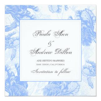 Irisbröllopinbjudan Fyrkantigt 13,3 Cm Inbjudningskort