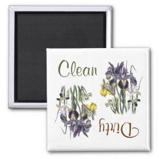Irisen blommar diskaremagneten magnet