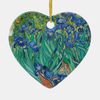 Irises av Vincent Van Gogh Julgransprydnad Keramik
