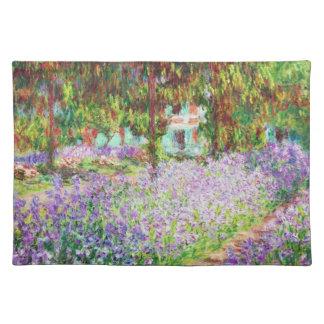 Irises i Monets trädgårds- Claude Monet Bordstablett