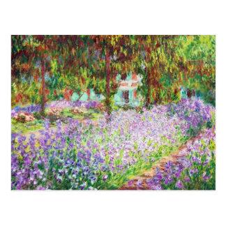 Irises i Monets trädgårds- Claude Monet Vykort