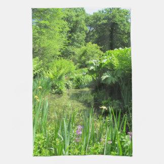 Irises vid damm, Richmond parkerar Kökshandduk