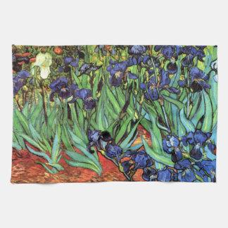 Irises vid den Van Gogh konstkökshandduken Kökshandduk