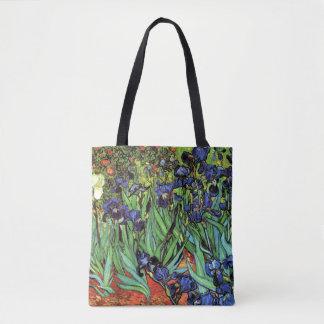 Irises vid Van Gogh konst Tygkasse