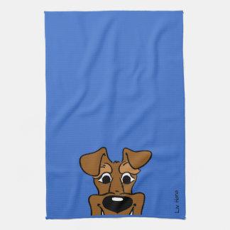 Irish Terrier Smile Kökshandduk