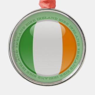 Irland bubblar flagga rund silverfärgad julgransprydnad