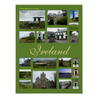 Irland Collage (porträtt) Poster