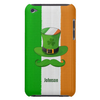 Irland flagga & mustasch för Shamrocktrollhatt iPod Case-Mate Cases