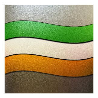 Irland flaggaFärg-Krom Fotografier