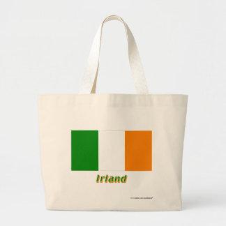 Irland Flagge mit Namen Tygkasse