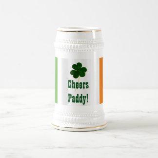 Irland för Shamrock för flagga för St Patrick dag Sejdel