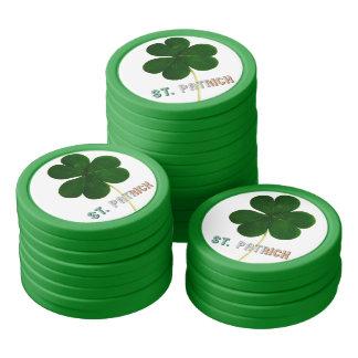 Irland för St Patrick irländsk Shamrockklöver Poker Marker
