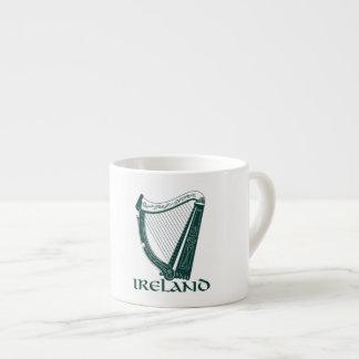Irland harpadesign, irländsk harpa espressomugg