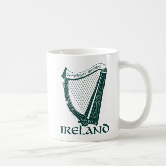 Irland harpadesign, irländsk harpa kaffemugg