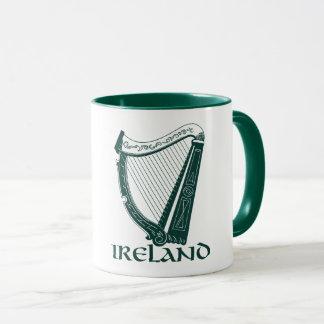 Irland harpadesign, irländsk harpa mugg