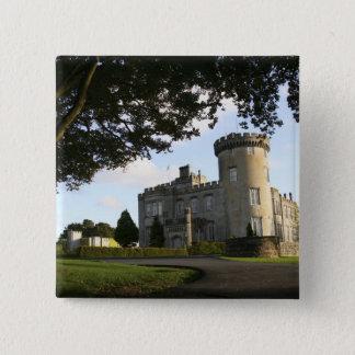 Irland ingången för Dromoland slottsida Standard Kanpp Fyrkantig 5.1 Cm