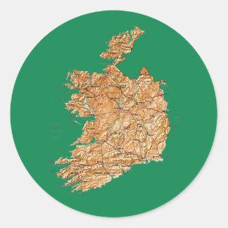 Irland kartaklistermärke runt klistermärke