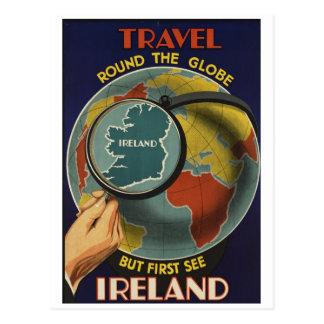 Irland reser affischvykortet vykort