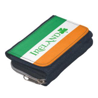 Irland Shamrocksymbol på irländska flaggafärger