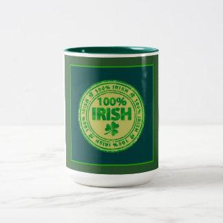 Irländare 100% Två-Tonad mugg