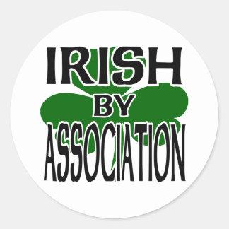 Irländare av anslutningen med den stora runt klistermärke