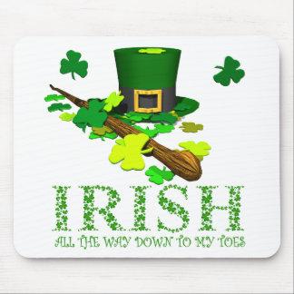 Irländare besegrar hela vägen till min Toes. Musmatta