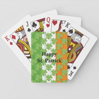 Irländare för Shamrock för flagga för lyckliga Sts Casinokort