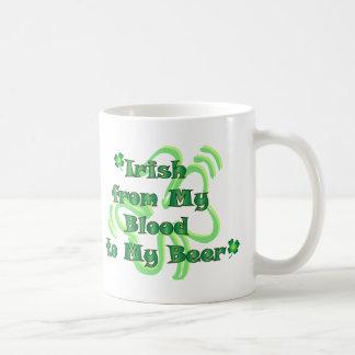 Irländare från blod till öl vit mugg