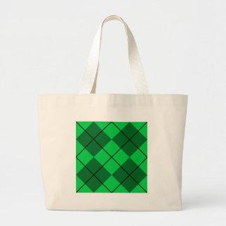Irländare gröna Argyle Jumbo Tygkasse